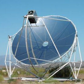 Solar Dish Collector Used In A Solar Hot Water System