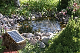 solar gardens pond