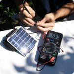 measuring the power of a solar panel